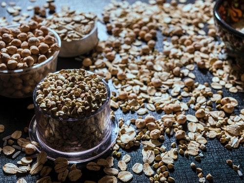 ひよこ豆と穀物